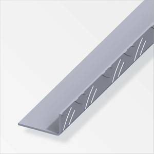 Checker Plate Aluminium Unequal Angle Combitech Profile - 2.5m x 53.6 x 29.5mm