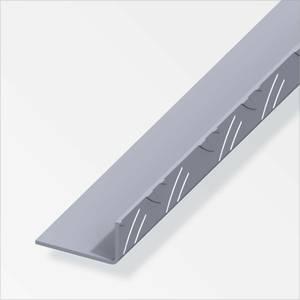 Checker Plate Aluminium Unequal Angle Combitech Profile - 1m x 53.6 x 29.5mm