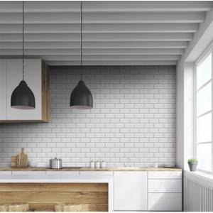 Metro Mid Grey 10 x 20cm Wall Tile - 25 Pack