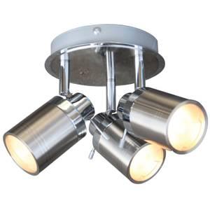 Lucina 3 Plate Bathroom Spotlight - Brushed Chrome