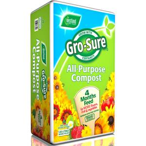 Gro-Sure All Purpose Compost with 4 Months Feed - 120L