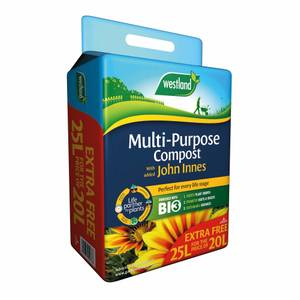 Westland Mulit-Purpose Compost with added John Innes - 20L +25% extra free