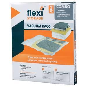 Vacuum Storage Bag Combo - Pack of 2 (1 Large, 1 Extra Large)