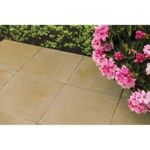 Stylish Stone Hereford Paving Riven 450 x 450mm - Gold (Full Pack)