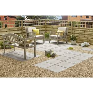Stylish Stone Hereford Paving Smooth 450 x 450mm - Grey (Full Pack)