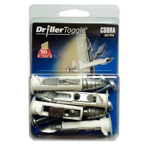 Cobra Driller Toggle - Hollow Wall Fixings x 4 - 367RE