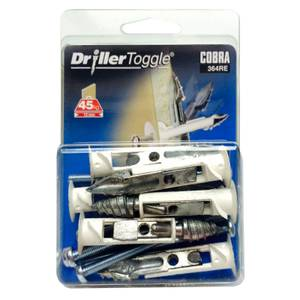 Cobra Driller Toggle - Hollow Wall Fixings x 6 - 364RE