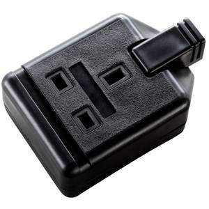 Masterplug 1 Socket Heavy Duty Rewirable Trailing Socket Black