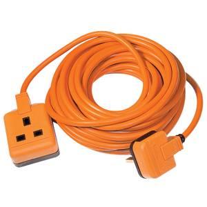 Masterplug 1 Socket Heavy Duty Extension Lead 10m Orange