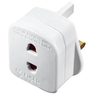 Masterplug Shaver Adaptor White