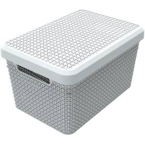 Ezy Storage Mode 17L Storage Basket with Lid - Lily
