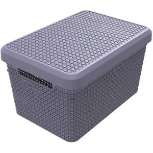 Ezy Storage Mode 17L Storage Basket with Lid - Lilac