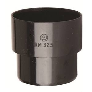 Polypipe Round Downpipe Connector - 50mm - Black