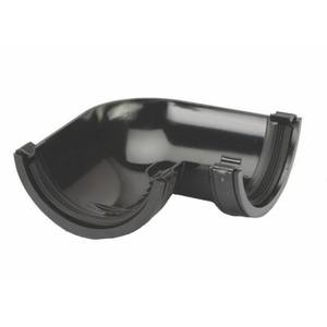Polypipe Half Round Gutter Angle - 112mm x 90 Degree - Black