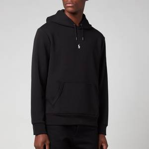 Polo Ralph Lauren Men's Double Knitted Centre Polo Player Hoodie - Polo Black