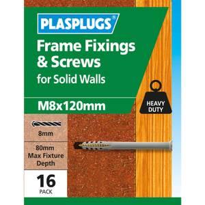 Plasplugs Frame Fixings M8 x 120mm x 16
