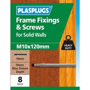 Plasplugs Frame Fixings M10 x 120mm x 8