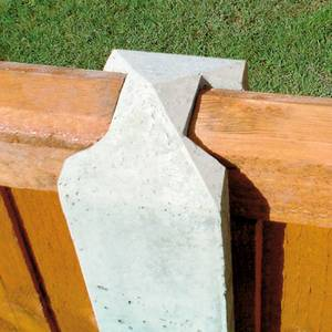 Forest Lightweight Concrete Fence Posts - Pack of 3