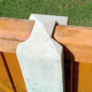 Forest Lightweight Concrete Fence Posts - Pack of 5