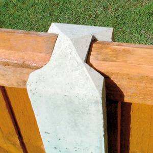 Forest Lightweight Concrete Fence Posts - Pack of 6