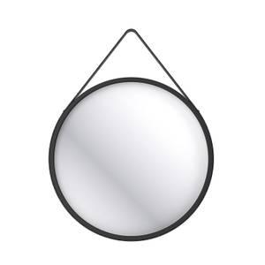 Home Design Round 60cm Bathroom Mirror - Black