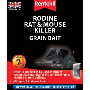 Rentokil Rat & Mouse Killer Sachets (Pack of 2)