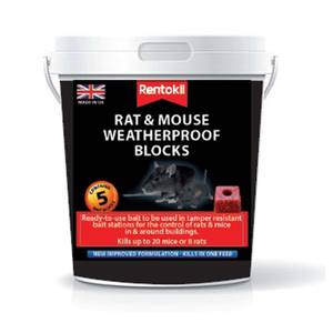 Rentokil Rat & Mouse Bait Blocks (Pack of 5)
