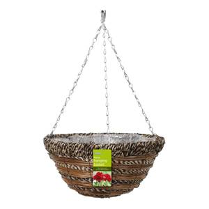 Rattan Hanging Basket Rope and Fern