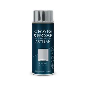 Craig & Rose Artisan Bright Effect Spray Paint - Chrome - 400ml
