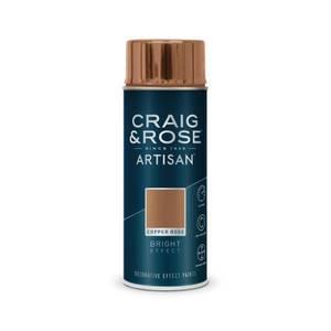 Craig & Rose Artisan Bright Effect Spray Paint - Copper Rose - 400ml