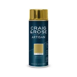 Craig & Rose Artisan Bright Effect Spray Paint -Gold - 400ml