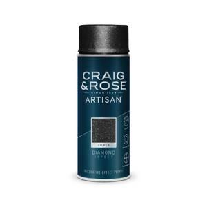 Craig & Rose Artisan Diamond Effect Spray Paint - Silver - 400ml