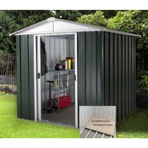 6x5ft Yardmaster Hercules Deluxe Apex Metal Shed with Floor Frame