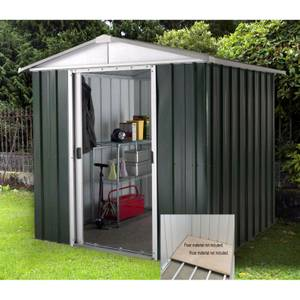 6x8ft Yardmaster Hercules Deluxe Apex Metal Shed with Floor Frame