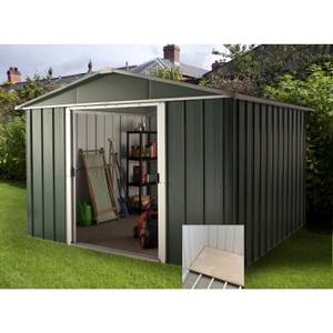 10x13ft Yardmaster Hercules Deluxe Apex Metal Shed with Floor Frame