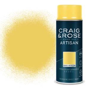 Craig & Rose Artisan Enamel Gloss Spray Paint - Dandelion - 400ml