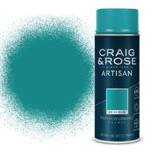 Craig & Rose Artisan Enamel Gloss Spray Paint - Gogo Blue - 400ml