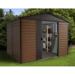 8x6ft Yardmaster Woodgrain Metal Shed