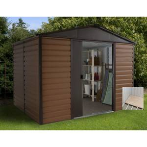 8x6ft Yardmaster Woodgrain Shed & Floor Frame