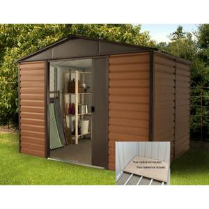 10x6ft Yardmaster Woodgrain Shed & Floor Frame