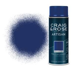 Craig & Rose Artisan Enamel Gloss Spray Paint - Passionate Blue - 400ml