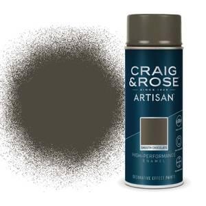 Craig & Rose Artisan Enamel Gloss Spray Paint - Smooth Chocolate - 400ml