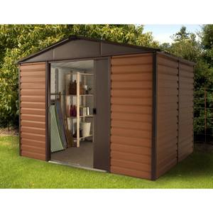 10x12ft Yardmaster Woodgrain Metal Shed