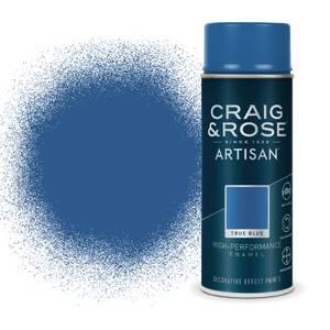 Craig & Rose Artisan Enamel Gloss Spray Paint - True Blue - 400ml