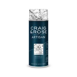 Craig & Rose Artisan Marble Effect Spray Paint - Black - 400ml