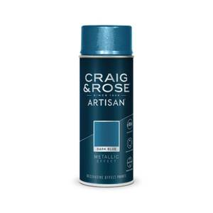 Craig & Rose Artisan Metallic Effect Spray Paint - Dark Blue - 400ml