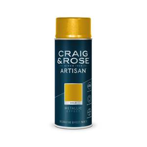 Craig & Rose Artisan Metallic Effect Spray Paint - Gold - 400ml