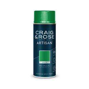 Craig & Rose Artisan Metallic Effect Spray Paint - Green - 400ml