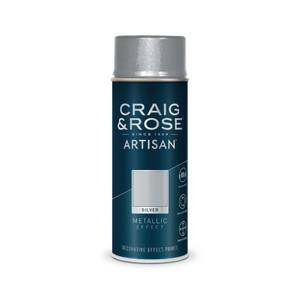 Craig & Rose Artisan Metallic Effect Spray Paint - Silver - 400ml