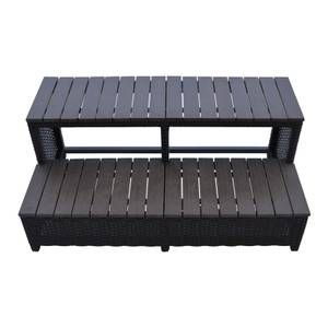 Canadian Spa Rattan Square Spa Step for 84in Hot Tub
